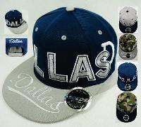 Snap Back Flat Bill [DALLAS] Block Letters